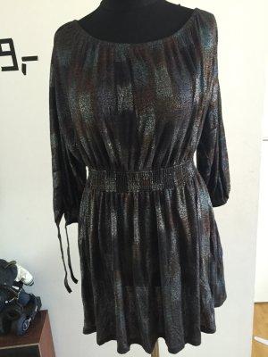 Kleid im angesagten Lurex-Style, Shirtkleid, 80's-Style