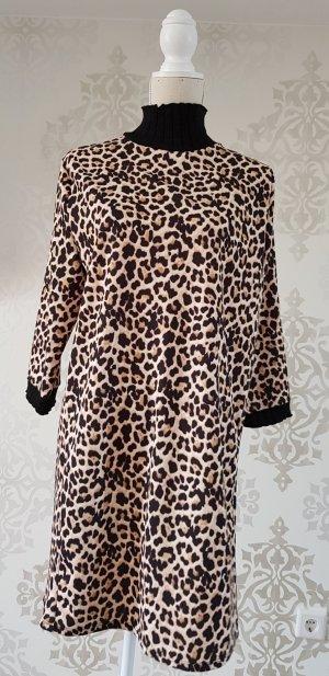Zara Basic Vestido estilo camisa multicolor