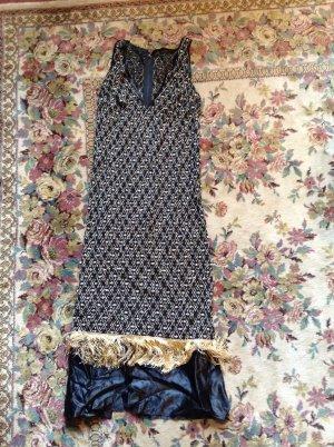 Kleid im Stil der 20er Jahre, Perlen, Fransen, Vintage, ca. 36 - 38, Burlesque