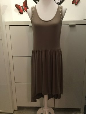Yessica High Low Dress grey brown viscose