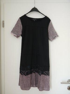 Amisu Mini-jurk zwart-lichtroze