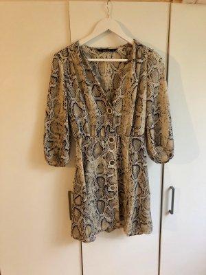 Zara Blouse Dress black-beige