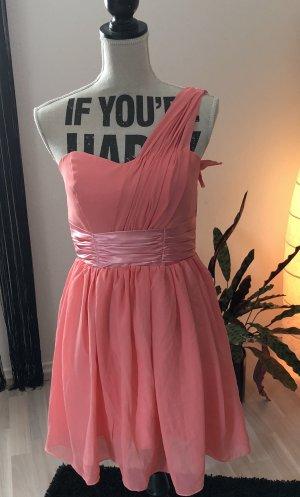 One Shoulder Dress apricot