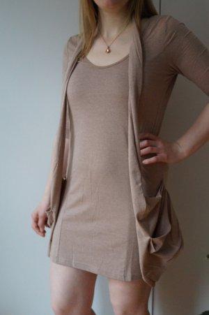 Kleid in Beige/Altrose meliert GR. 38/40 NEU