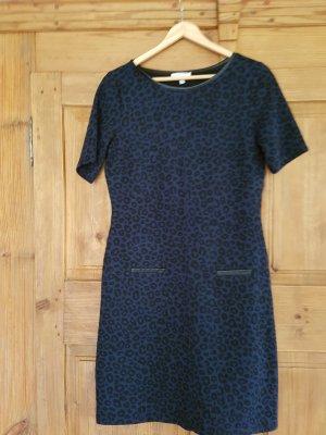 Biaggini Vestido de manga corta negro-azul