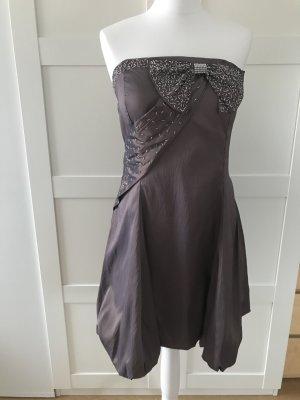 vestido de globo color bronce-marrón