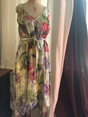Kleid in bunten floralen Druck Mega angesagt Palme und Blume