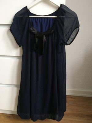 Vestido babydoll negro-azul oscuro