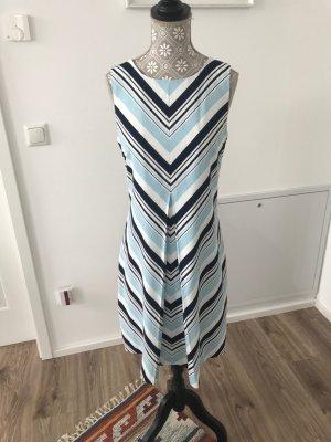 Kleid in Farbe navy, dunkelblau-blau-weiß - S