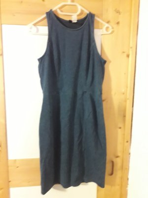 H&M Cut out jurk donkerblauw