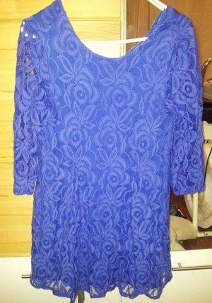 Kleid in kobaldblau spitze