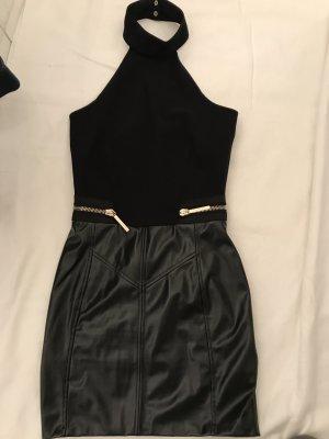 Kleid in Lederoptik sehr im Trend schwarz.