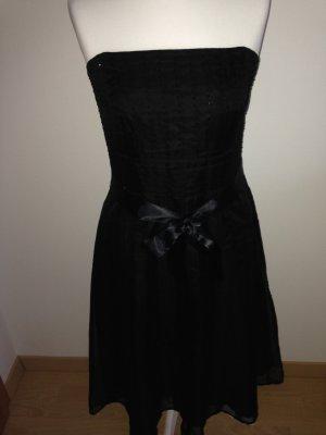 Kleid, in Schwarz, Gr.  38, Seide