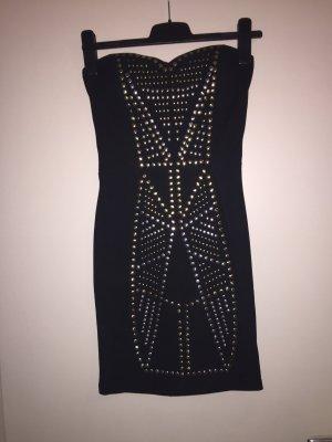 Kleid in Schwarz mit Nieten
