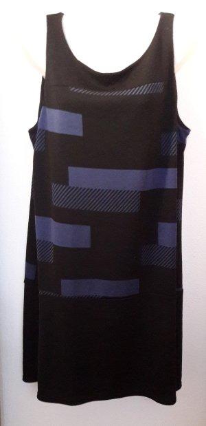 Kleid in schwarz/royalblau