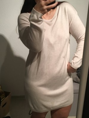 Kleid in Strickoptik, beige