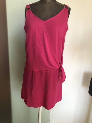 Kleid in Wickel Look Gr 36 38 S in Pink Minikleid