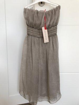 Vestido bandeau marrón grisáceo