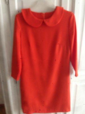 0039 Italy Vestido ceñido de tubo naranja