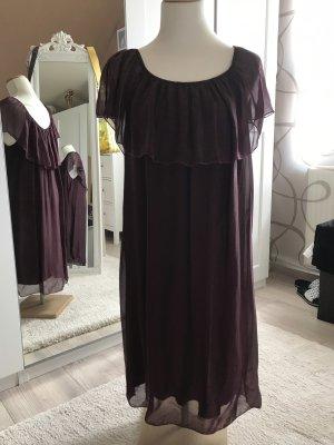 0039 Italy Robe mi-longue violet