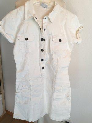 Kleid Jeanskleid Minikleid weiß Blusenkleid Gr. 38/40