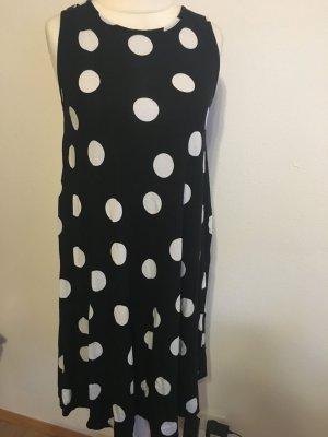 Kleid Jerseykleid schwarz weiß mit Pünktchen Gr. 40