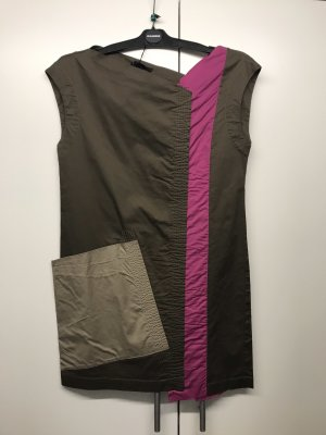 Jil Sander Vestido a media pierna multicolor