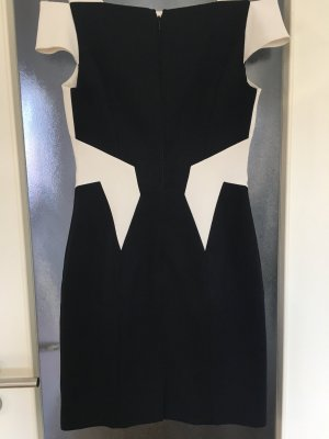 KAREN MILLEN Empire Dress black-white