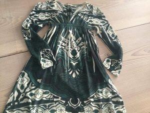Kleid Khaki grün mit Glitzer Steinchen in Gr. 38 40 M von Snake Milano