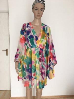 H&M Garden Collection Midi Dress multicolored