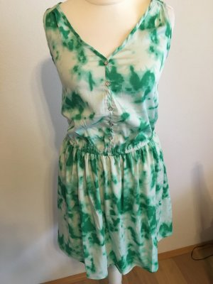 Kleid Kleidchen Sommerkleid grün weiß Batik NEU