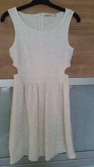 Cut Out Dress white