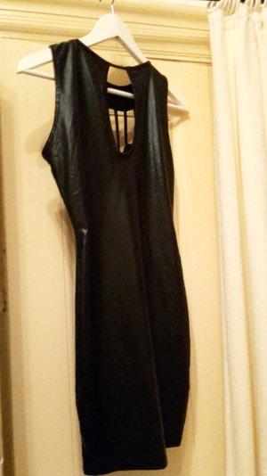 Kleid kurz Größe S/M 36/38 schwarz glänzend