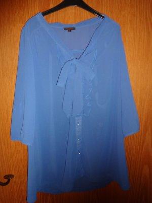 Kleid kurz hellblau Schlupf Volant Schleife in M 38 Dreiviertel Ärmel Hemd Bluse