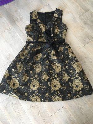 Kleid, l, 40, Dorothy Perkins, Gold, schwarz, festlich