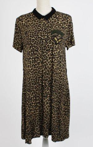 Kleid L 40 Leo Army schwarz beige khaki * reserved