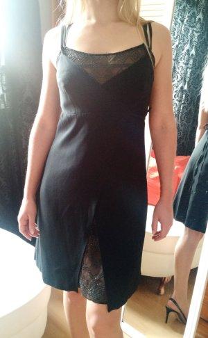 Kleid La Perla Gr. 34 XS (it. 42) Wickelkleid sexy schwarz pailletten cocktail
