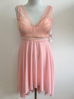Kanten jurk veelkleurig