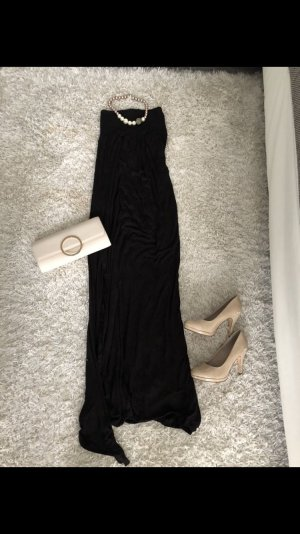 Kleid lang schwarz s schulterfrei bandeau