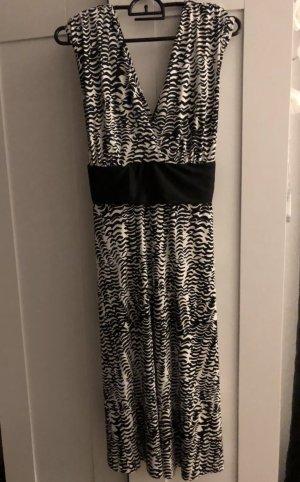 Kleid lang schwarz weiß