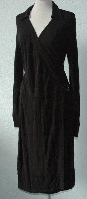 Kleid lang Wickelkleid schwarz Next Gr. 40 UK 12 gothic