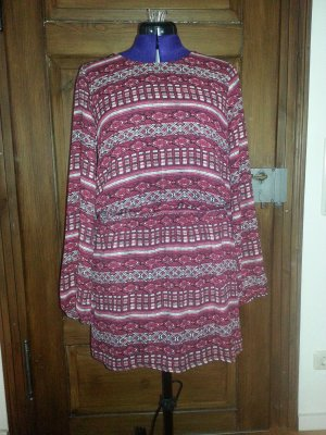 Kleid langärmlig Gina Tricot Inka-Print Gr. 40