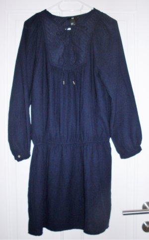 Kleid langarm in dunkelblau
