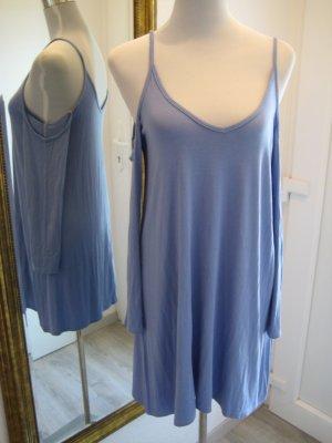 Kleid Langarm Schulterfrei Cut Outs Blau Gr.42 Neu