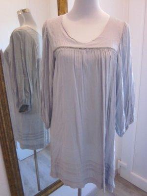Kleid Langarm Taupe Gr M