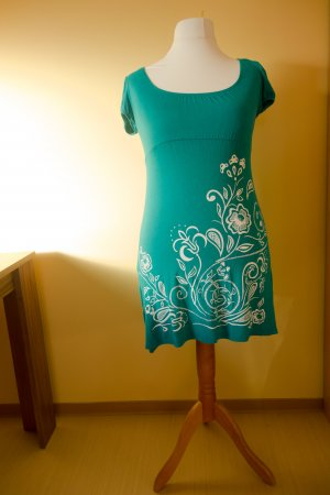 Empire Dress green cotton