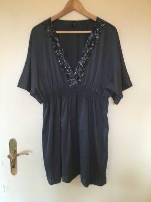 Kleid/ langes Oberteil in petrol/blau mit Pailletten von Vero Moda Größe L