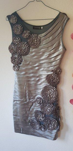 Layers Vestido elástico gris