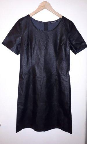 Kleid Leder schwarz