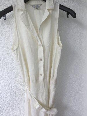 Kleid,%Leinen Creme weis,Größe L, 10€